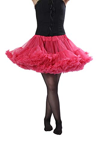 - Malco Modes Alyse Short Sexy Tutu Style Petticoat - Thick Enough to Wear Alone, Good for Skater Skirt Raspberry