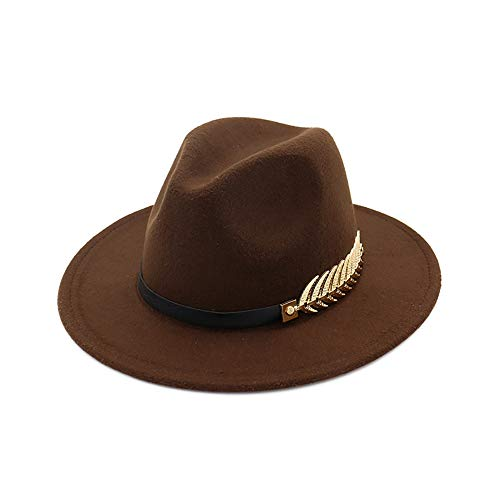 42579e8cabc Jual Women Simple Metal Belt Buckle Fedora Hat -