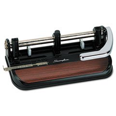 ** 40-Sheet Heavy-Duty Lever Action Two- to Seven-Hole Punch, 11/32 Holes **
