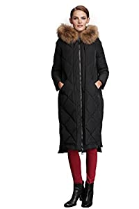Fast Sister Women's Stylish Down Jackets Thickened Down Coats Parka -XS Black