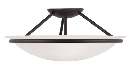 Livex Lighting 4824-04 Newburgh 3-Light Ceiling Mount, Black