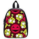 Custom Unisex Leather Teenager School Bag Invader Zim Gir Printed Casual Travel Backpacks Large