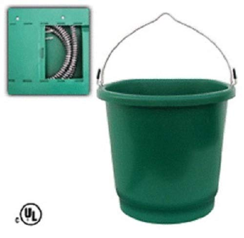 Farm Innovators FB-80 3 Gallon Heated Flat Back Buckets - Quantity 3