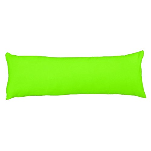 Chartreuse Body - FiuFgyt Long Body Pillow Case Traditional Solid Color Neon Chartreuse Body Pillow Cover 20 x 54