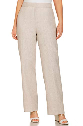 Wide Mix Leg Linen - Boston Proper Women's Casual Linen Straight-Leg Trouser Pant Flax 0
