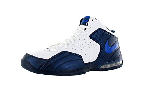 Nike Mens Air Max Posterize Scarpa Da Basket Bianco / Blu / Royal (8)