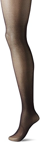 Image of Hanes Silk Reflections Women's Perfect Nudes Micro-net Control Top Pantyhose, true black, LARGE