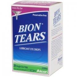 Bion larmes gouttes oculaires lubrifiantes-0,015 oz, 28 ct simples utiliser les flacons