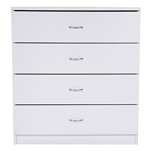 (TimmyHouse Chest of Drawers Dresser 4 Drawer Furniture Cabinet Bedroom Storage)