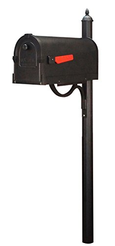 Special Lite Savannah Curbside Mailbox with Richland Mailbox Post - Black by Special Lite Products Company, Inc.