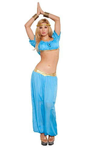 Women's 3-Piece Genie Costume Blue (M/L)