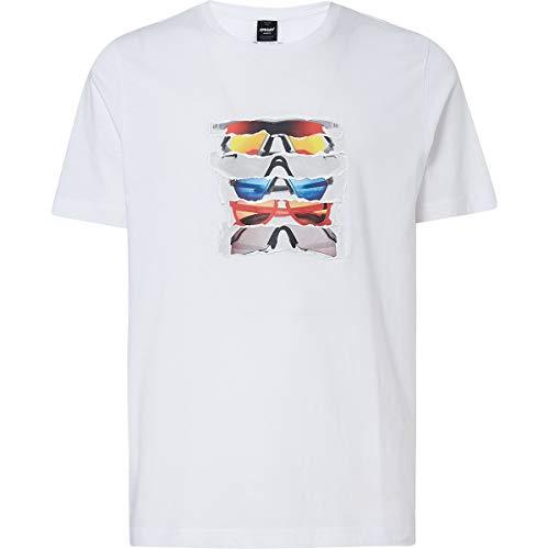 - Oakley Men's Sunglass Print Shirts,Medium,White