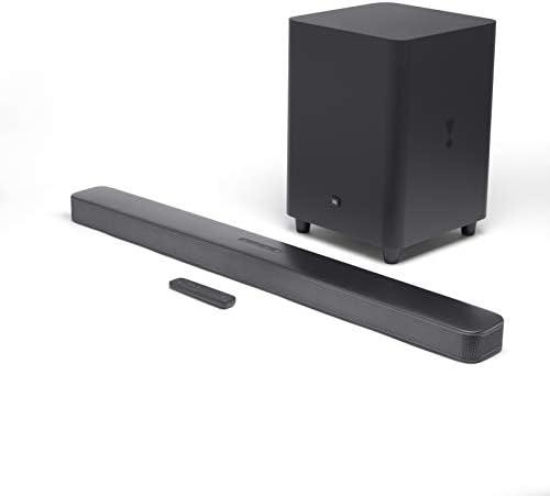 """JBL Bar 5.1 – Soundbar with Constructed-in Digital Encompass, 4K and 10″"" Wi-fi Subwoofer (2019 Mannequin)"", black (JBL2GBAR51IMBLKAM)"