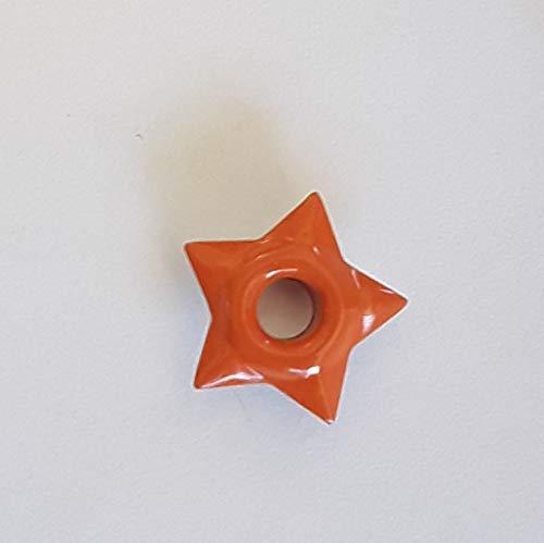 (50 piece Poppy Orange Star 1/8