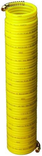 Amflo 4-50E-RET giallo 200 PSI Nylon Recoil Air Hose 1 4 x 50' With 1 4 MNPT Swivel End Fittings by Amflo