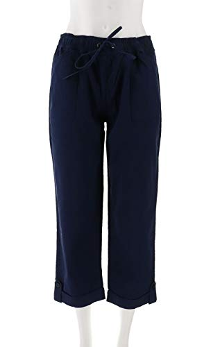 Liz Claiborne NY Jackie Pull-On Crop Pants Navy 16 New A252713 from Liz Claiborne New York