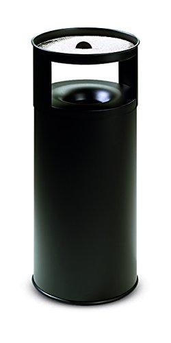 38x38xh90 stilcasa Posacenere-Gettacarta Pattumiera autoestinguente Nero-Litri 75 in Ferro Dim