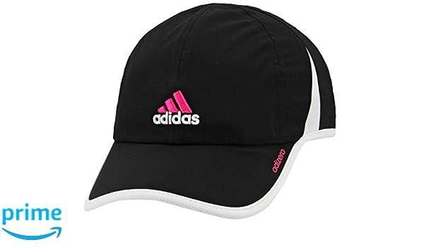 adidas Women's Adizero Cap, BlackWhiteBlaze Pink, One Size