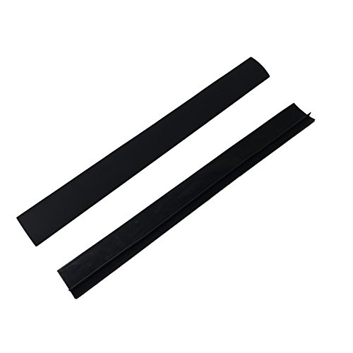 (Silicone Home & Stove Counter Gap Covers - Black (Set of 2))