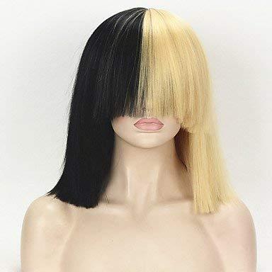 Women's Synthetic Wig Medium kinky straight Straight Blonde Cosplay Wig Celebrity Wig Halloween Wig Carnival Wig Costume Wig ()