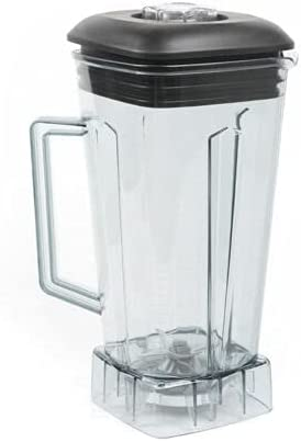 Blender BPA Free Square Jar Container Transparent Lid Food Processor Mixer 2L for Commercial Home Use