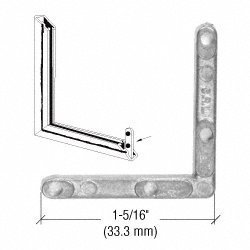Zinc Storm Window Corners - CRL Zinc Storm Window Corners for Miter Cut Fabrication - 1795