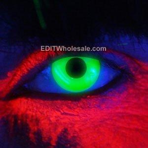 UV Grün - Eye Zubehör - kompletter Satz - Erwachsene Phantasie kleiden