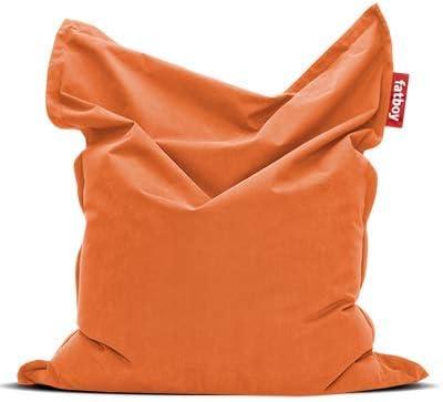 Cotone Fatboy Pouf a Sacco Orange 60 x 60 x 110 cm
