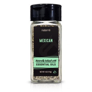 Naterre Mexican Spice Blend 4oz- Delicious Blend of Natural Organic Spices and Essential Oils - Tacos, Enchiladas, Fajitas, Salsas, Guacamole, Rice, Beans, Marinades, Chilies
