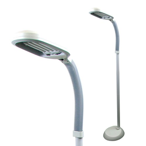 Natural full spectrum sunlight therapy reading floor lamp for Lavish home sunlight floor lamp off white