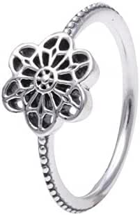 FLORAL DAISY LACE RING-7 MED