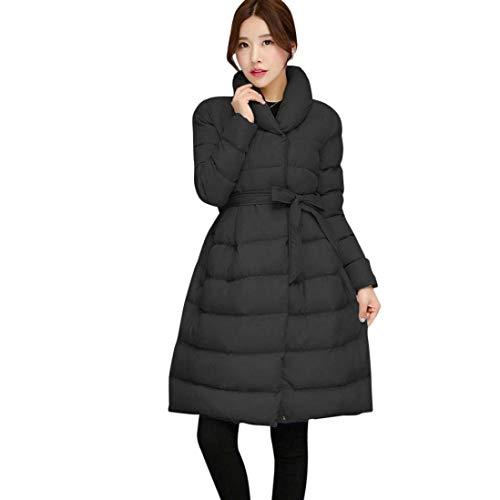 Collo Eleganti Giaccone Sciolto Casual Addensare Solidi Coreana Manica Invernale Lunga Outwear Moda Cappotto Grazioso Caldo Invernali Donna Colori Outdoor Parka Trapuntato Schwarz 6PzZqxT6