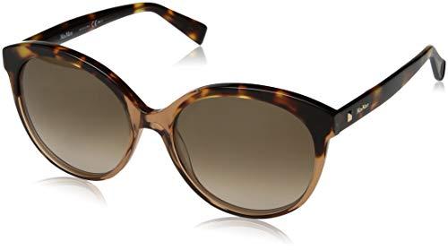 Max Mara Women's Mm Eyebrow I Round Sunglasses, Beige Havana, 56 - Havana Beige Sunglasses