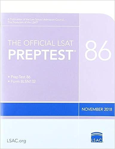 The Official Lsat Preptest: Nov  2018 Lsat: Law School