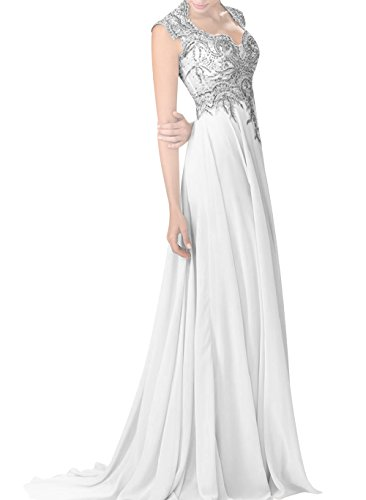 Chiffon Beaded Long Halter Dress - 9