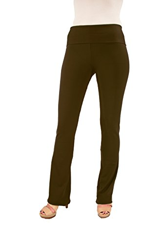 Hold Your Haunches ''As Seen on Shark Tank'' Women's Booty Patootie Bootcut Pants (2X-Large) -Brown- 32'' Inseam by Hold Your Haunches