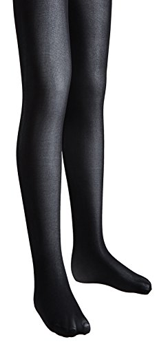 Sportoli Girls Opaque Hold and Stretch Footed Ballet Tights - Black (size 12/14) -