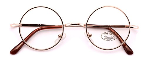 Casual Fashion Small Round Circle Clear Lens Eyeglasses Thin Frame Unisex Glasses - Circular Glasses Frames