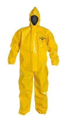 TyChem BR coverall - attached hood & elastic wrists/ankles - tape seams - 4XL - Price For Each