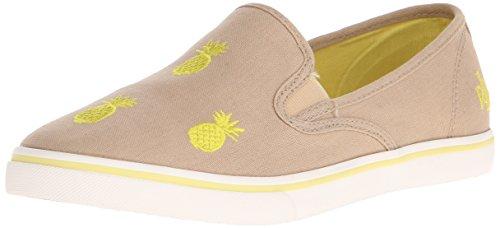 Lauren Ralph Lauren Damen Janis Fashion Sneaker Khaki / Gelb Leinwand Emb Critters