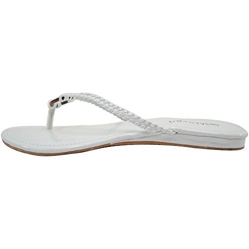 Flip Ladies Lightweight Sandals Womens Flops Beach Summer Holiday Shoes Slim White qgq10