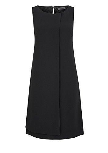 S.Oliver Premium In Crêpequalität - Vestido Mujer Schwarz (ebony 9999)