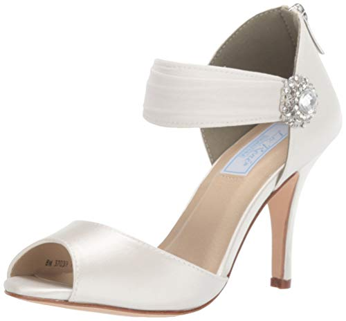 Liz Rene Couture Women's Genevieve Heeled Sandal, White, 7.5 M US ()