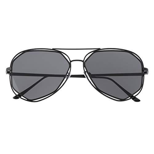 Protection Sunglasses Steampunk Soleil Gris Uv400 De Prettyia P Aviateur Femme Rétro Lunette wB8Yqz
