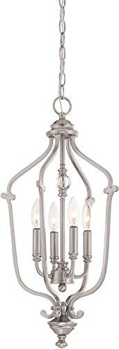 ier Lighting 3331-84 Savannah Row, 4-Light 240 Watts, Brushed Nickel ()