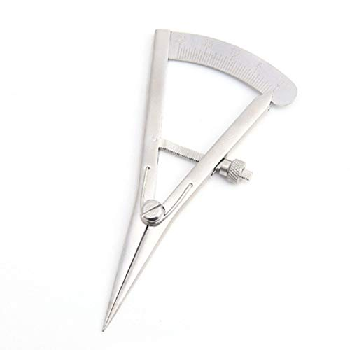 DIYツールボックス ミニピッチゲージDIY手動測定レザースケールステンレススチールレザーエッジマーキング (Style : With screws)