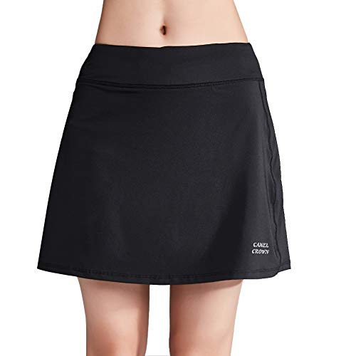 - CAMELSPORTS Women's Active Athletic Skort Lightweight Skirt with Pockets Shorts for Running Tennis Golf Black