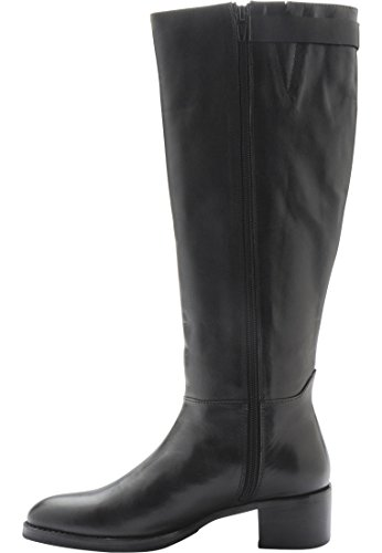 Bianco Damen Long Boot W/Strap SON15 Schwarz