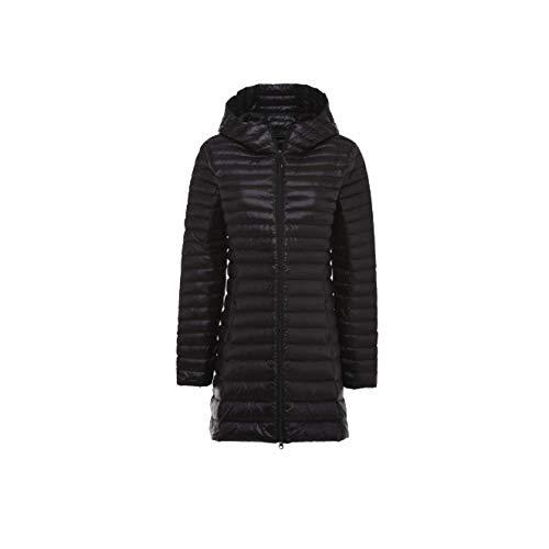 De Manteau Et Du D'hiver Longue Version Grande Niumt Coréenne Slim La À Capuche Black Taille rCodxBWe