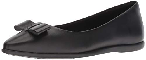 Bow Skimmer - Cole Haan Women's Zerogrand Bow Skimmer Ballet Flat, Leather/Black, 10 B US